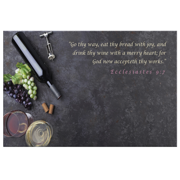 Canvas Print - Drink Thy Wine With A Merry Heart - Love the Lord Inc