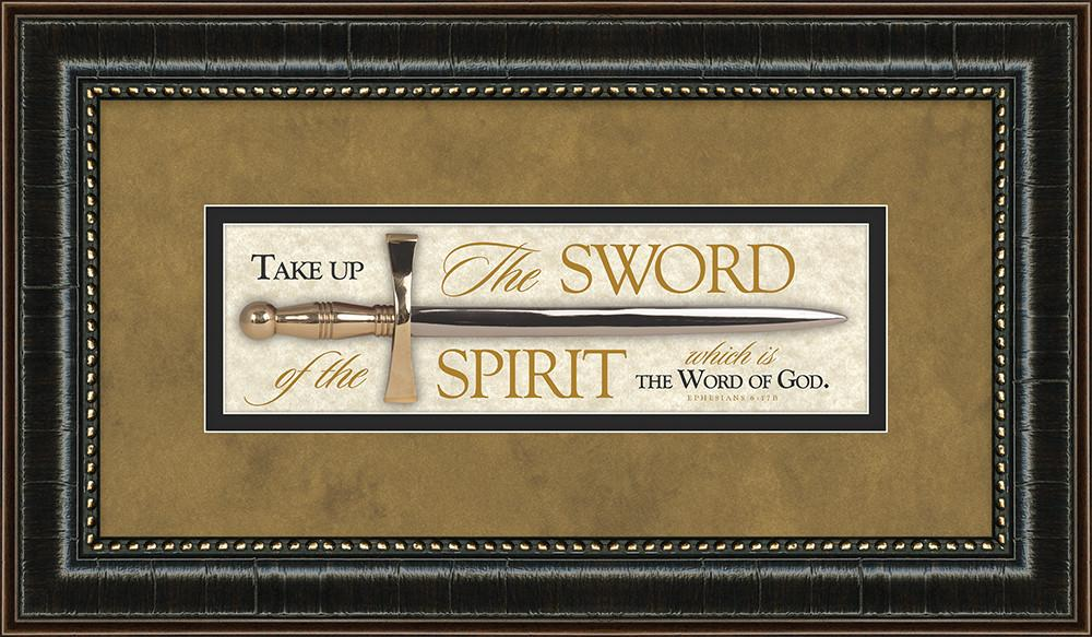 The Sword & Word Of God - Framed Art - Love the Lord Inc