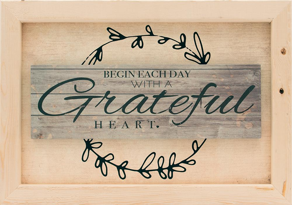 Begin Each Day With A Grateful Heart - Framed Print - Love the Lord Inc