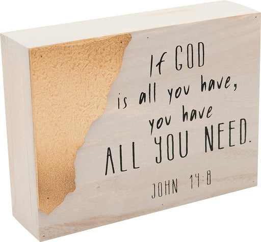 Desktop Block - You Have What You Need! God! - Love the Lord Inc