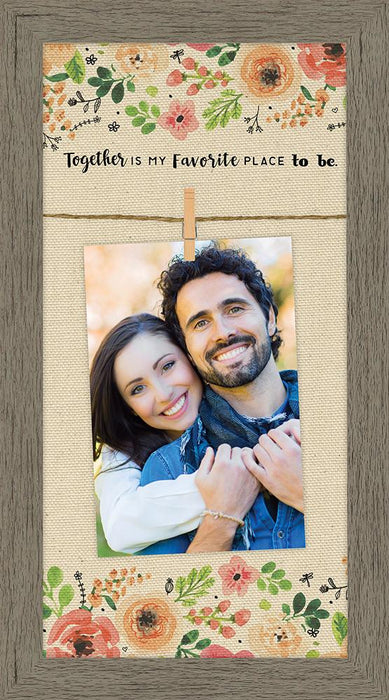 Canvas Clip Photo Frame - Together Is My Favorite Place To Be - Love the Lord Inc