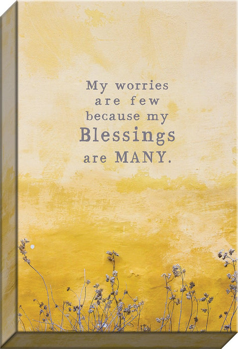 My Worries Are Few..Blessings Are Many (Canvas) - Love the Lord Inc