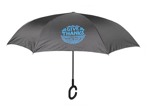 Reversible Umbrella - Give Thanks Floral - Love the Lord Inc