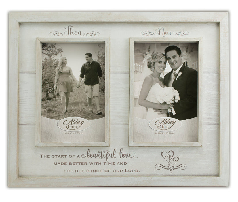Picture Frame Then And Now Anniversary Frame Love The Lord Inc