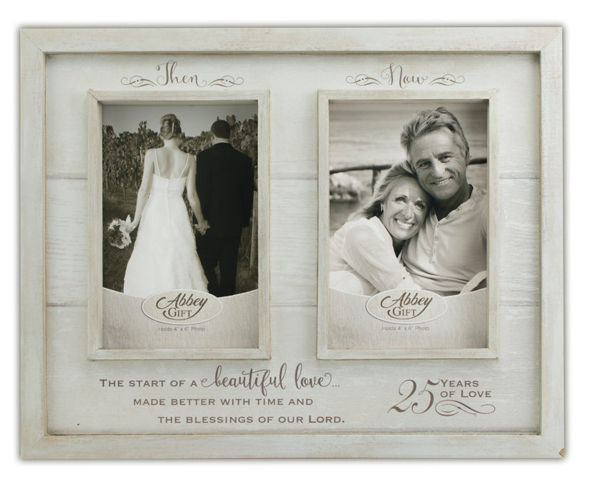 Picture Frame - Then and Now 25th Anniversary Frame - Love the Lord Inc