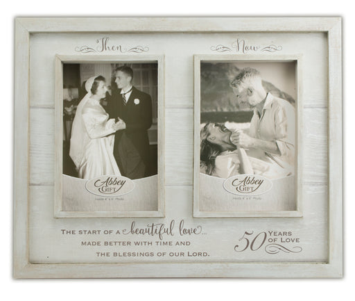 Picture Frame - Then and Now 50th Anniversary Frame - Love the Lord Inc