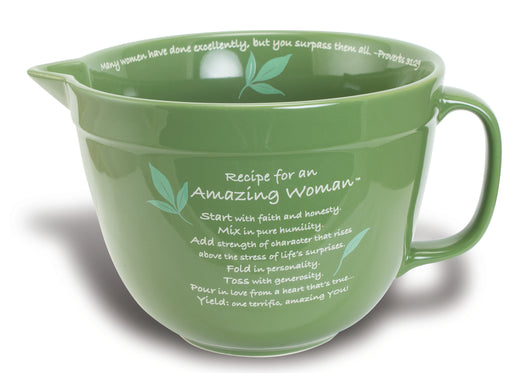 Mixing Bowl - Amazing Woman (Green) - Love the Lord Inc