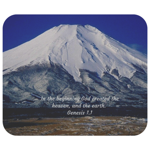 In The Beginning God Created - Mouse Pad (Genesis 1.1) - Love the Lord Inc