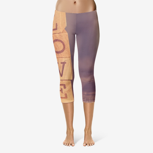 All-Over Print Capri Leggings - Love The Lord God - Love the Lord Inc