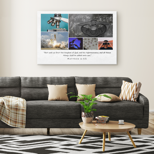 Canvas Print - Seek Ye First God's Kingdom - Love the Lord Inc
