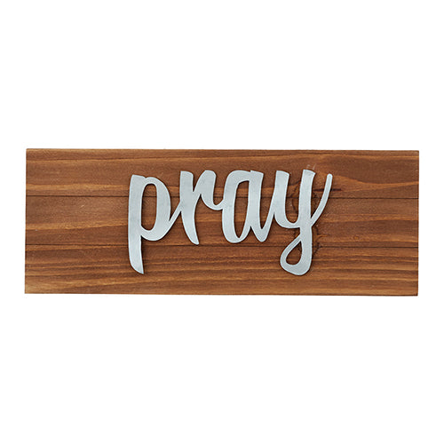 Tabletop Wood Plaque - Pray - Love the Lord Inc