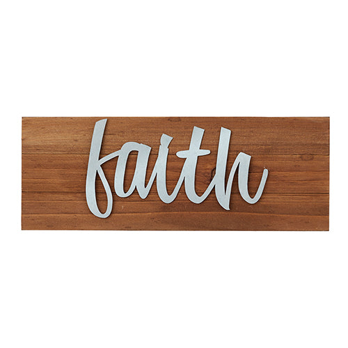 Tabletop Wood Plaque - Faith - Love the Lord Inc