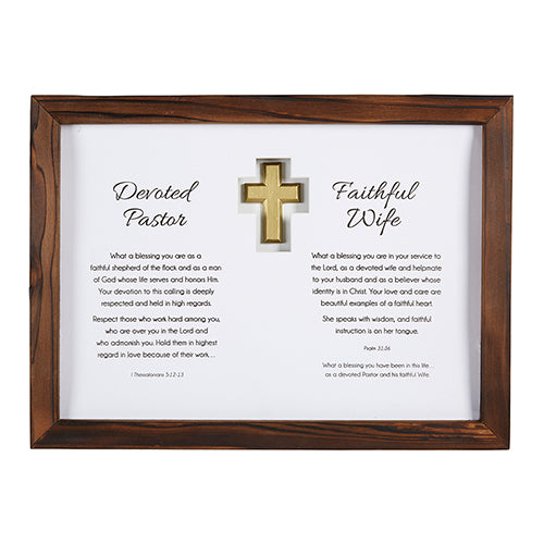 Pastor Appreciation Wall Art: Pastor And Wife - Love the Lord Inc
