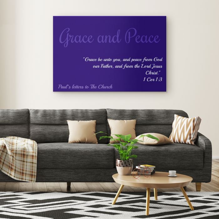 Canvas Print - Grace and Peace (Blue) - Love the Lord Inc