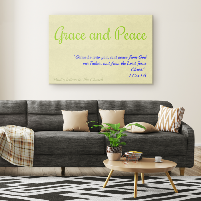 Canvas Print - Grace and Peace (Cream) - Love the Lord Inc