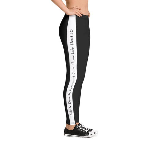 Scripture Leggings - Life & Blessings (Black) - Love the Lord Inc