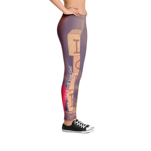 Scripture Leggings - Love The Lord Your God - Love the Lord Inc