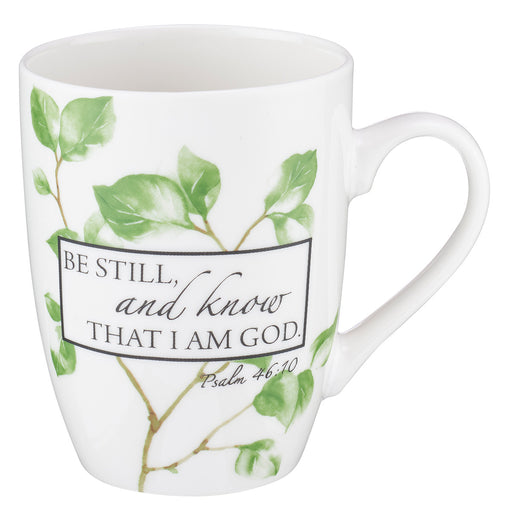 "Mug - ""Be still, and know that I am God."" Psalm 46:10 - Love the Lord Inc"