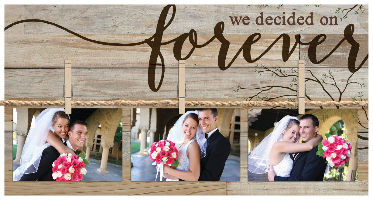 Pallet Picture Frame - We Decided On Forever - Love the Lord Inc