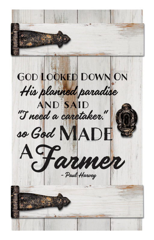 Pallet Door - So God Made The Farmer - Love the Lord Inc