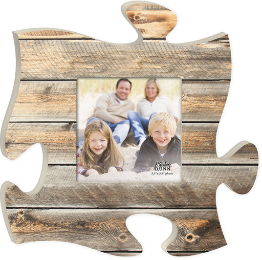 Puzzle Piece Art - Natural Wood - Love the Lord Inc