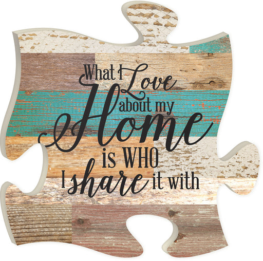 Puzzle Piece Art - What I Love About My Home...You! - Love the Lord Inc