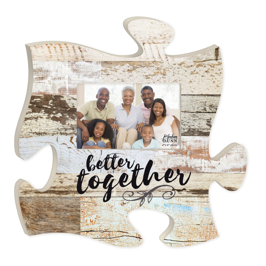 Puzzle Piece Art - Better Together - Love the Lord Inc