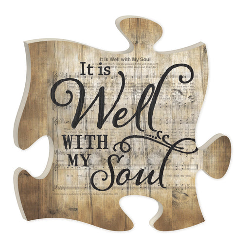 Puzzle Piece Art - It Is Well With My Soul - Love the Lord Inc