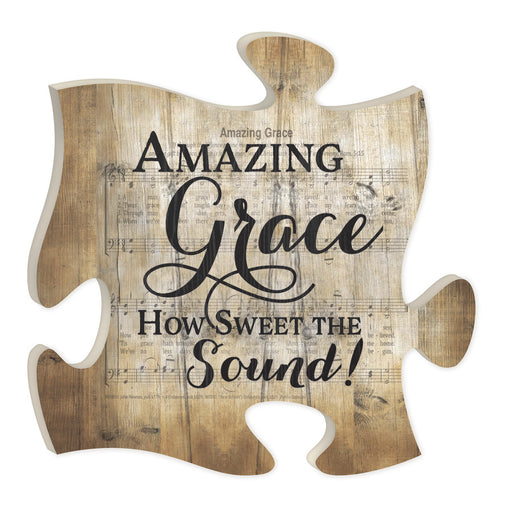 Puzzle Piece Art - Amazing Grace - Love the Lord Inc