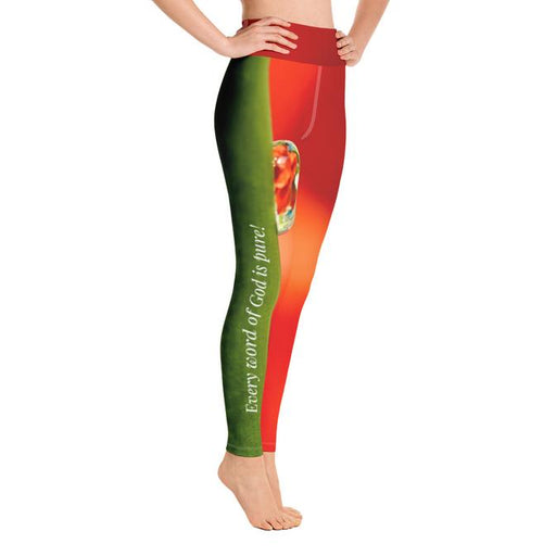 Scripture Leggings High Waist - God's Word Is Pure (Org) - Love the Lord Inc