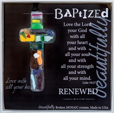 Accessories - Baptism Gift - Cross: (Handmade Glass)