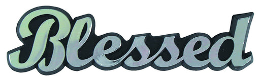 Car Emblem - Blessed (Silver Script) - Love the Lord Inc