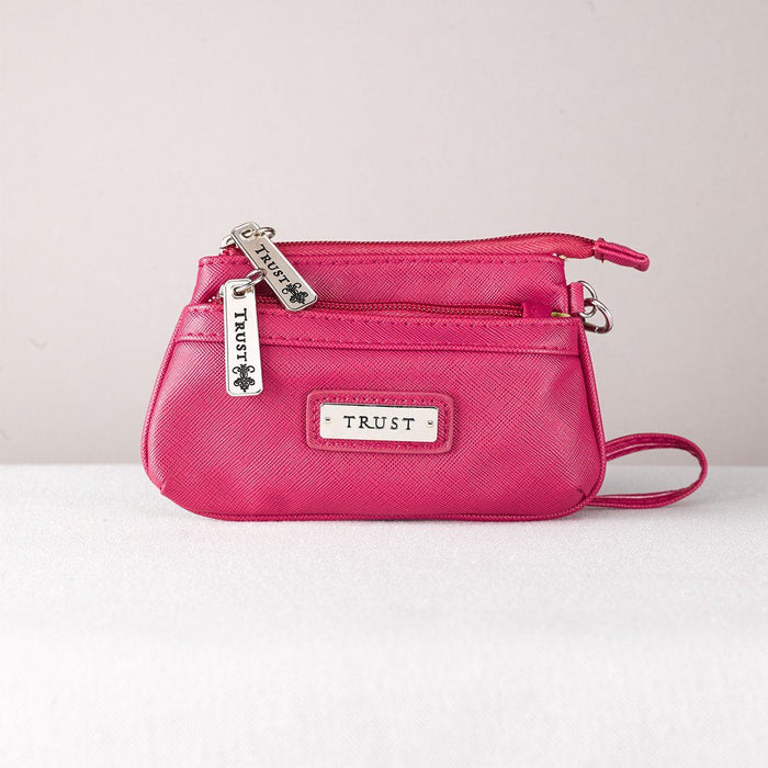 Christian Coin Purse - Trust (Pink) - Love the Lord Inc