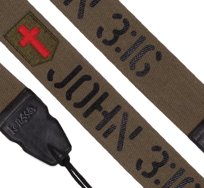 Christian Guitar Strap - John 3:19 - Love the Lord Inc