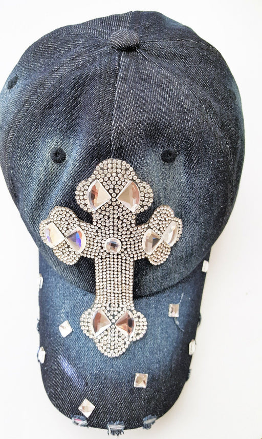 Christian Hat - Decorative Cross (Jean) - Love the Lord Inc