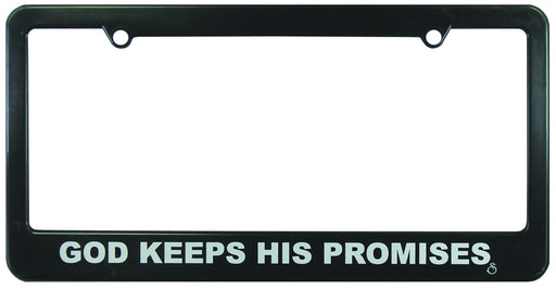 Christian License Frame - God Keeps His Promises - Love the Lord Inc