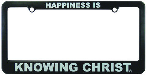 Accessories - Christian License Frame - Happiness Is Knowing Christ