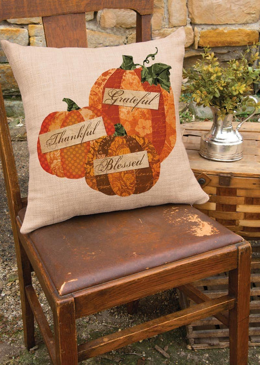 Christian Pillow - Grateful, Thankful, Blessed! - Love the Lord Inc