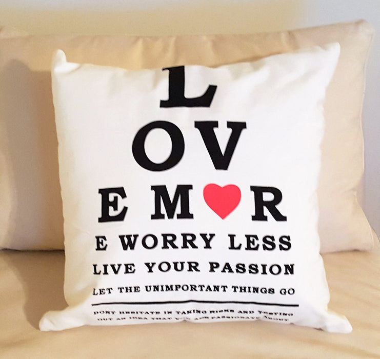 Christian Pillow - Love More, Worry Less - Love the Lord Inc