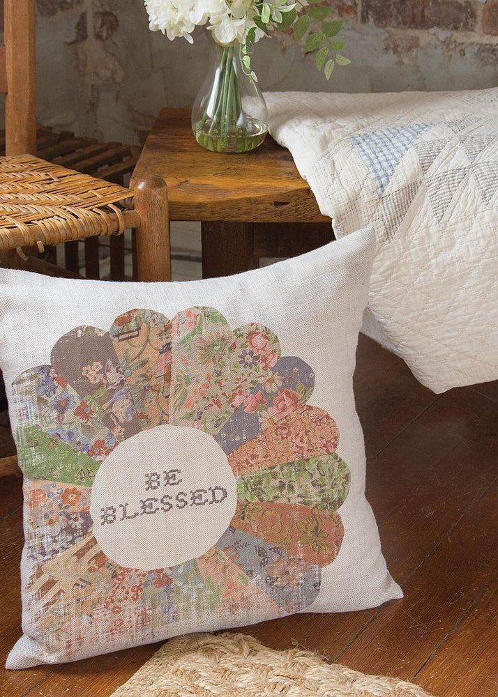 Christian Pillow - Quilted Wisdom Be Blessed - Love the Lord Inc