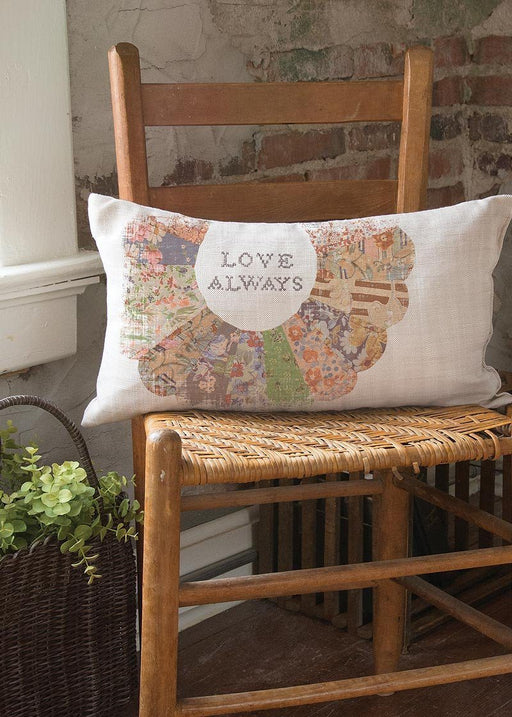 Christian Pillow - Quilted Wisdom Love Always - Love the Lord Inc