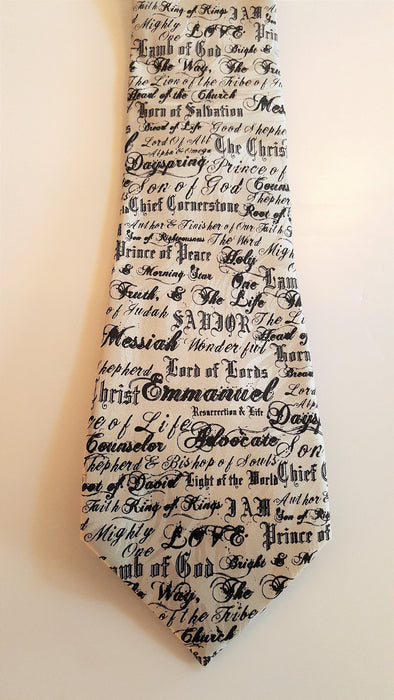 Christian Tie - The Names Of God (Silk) - Love the Lord Inc