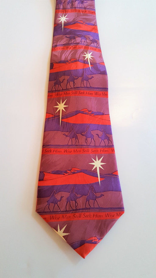 Christian Tie - Wise Men Seek Him (Silk) - Love the Lord Inc