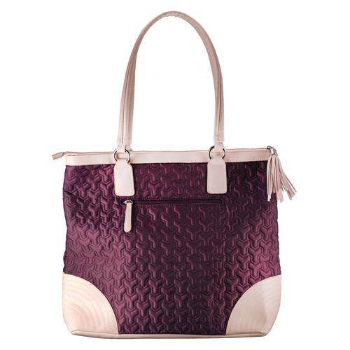 Christian Tote Bag - Quilted Grape Bag with Engraved Cross - Love the Lord Inc