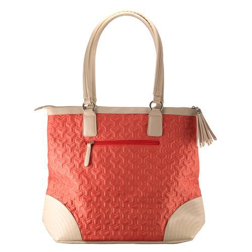Accessories - Christian Tote Bag - Quilted Salmon Bag With Engraved Cross