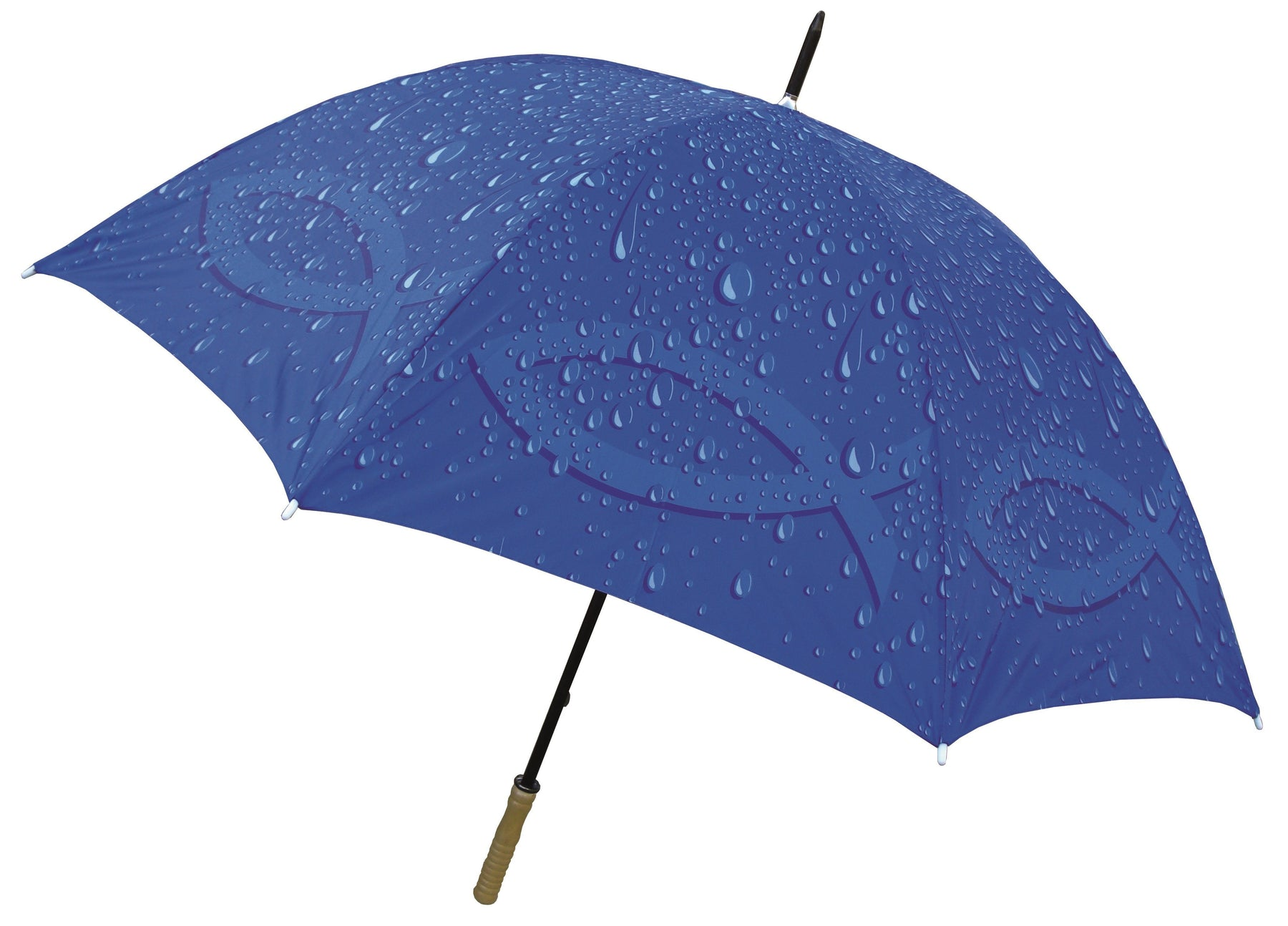 Christian Umbrella - Golf Umbrella Raindrop's with Christian Fish - Love the Lord Inc