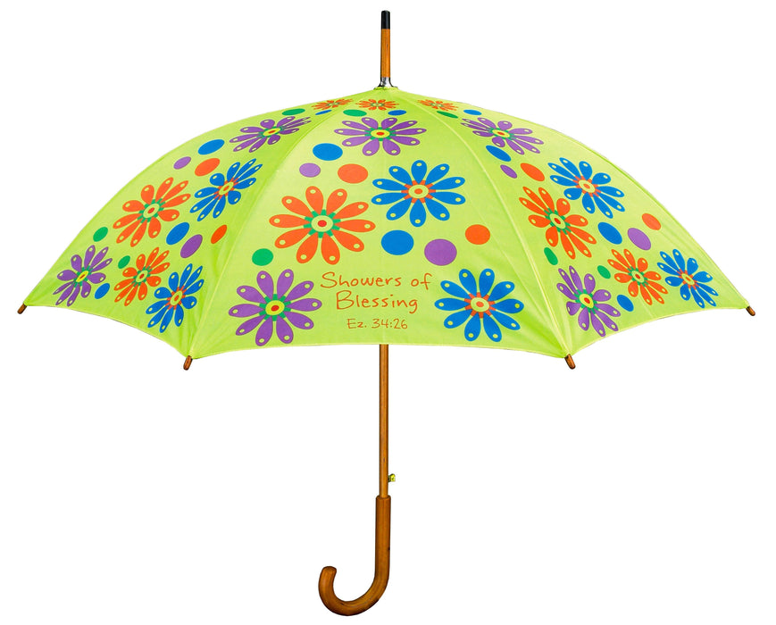 Christian Umbrella - Showers of Blessings (Flowers) - Love the Lord Inc