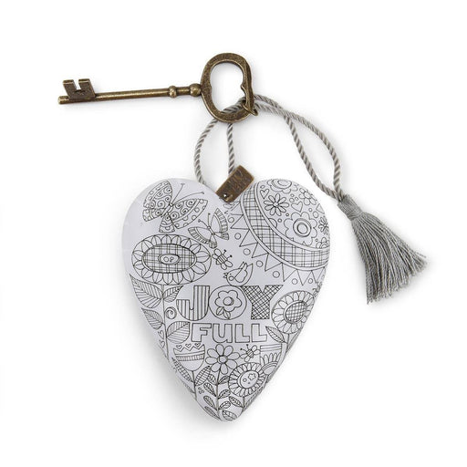Christmas Ornament - Color Me Art Heart - Love the Lord Inc