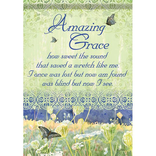 Garden Flag - Amazing Grace - Love the Lord Inc