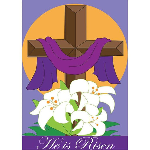 Garden Flag - He Is Risen - Love the Lord Inc